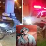 Ao voltar de show, cantor sertanejo bate contra poste e morre no local do acidente